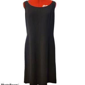 Anne Taylor Classic Black Sheath Dress SZ 14